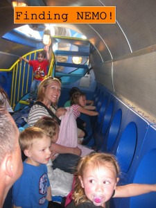 A submarine  ride with lots of Nemo characters. I was a little claustrophobic again but the kids were entertained.
