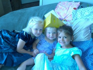 These girls want to wear princess dresses everyday! and spend their play time doing hair and makeup