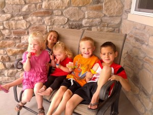 front porch and popsicles