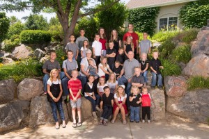 all 28 Netty Grand kids with Grandma and Grandpa