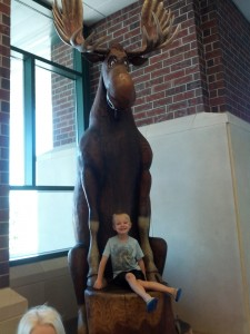Packer was so excited to show me the Moose
