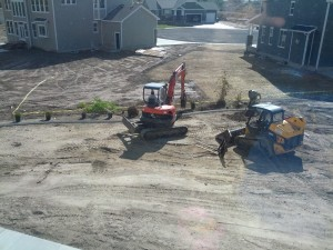 more leveling, the whole yard slopes down to the neighbors