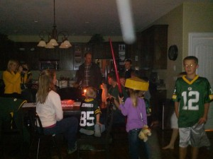 Uncle Pete's birthday and an Aaron Rodgers injury, :(