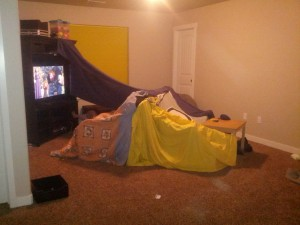 You build forts to make the kids think that laying on the couch and watching movies is AMAZINGLY FUN