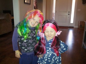 Fun Halloween wigs that we got on super clearance! so pretty