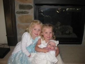 these girls LOVE their sister