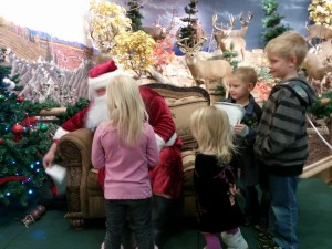 Our turn to talk to Santa! PlayI, Swimming Ariel, Skylanders, Princesses...