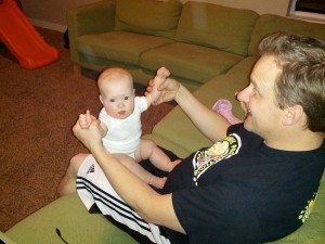 playing with dad