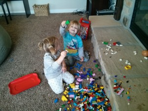 2 year old lego time