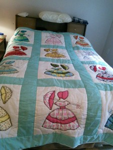 Mom and her sisters found the pieces to make 2 more quilts like this one that Gma made!