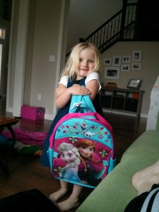 Rose got a new backpack because she had let Cali use hers for school.