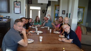 some of the Sunday dinner crew!