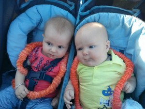 it's ok if you're bigger than the 5 month old neighbor! Emily and Ago.