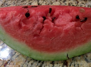 watermelon from our garden!!