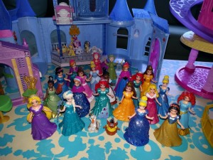 our princess collection ( I admit to liking these as much as the girls)